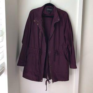 Dark Purple Utility Jacket